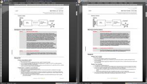 Porównanie układu pliku źródłowego z przetłumaczonym