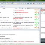 Przykład działania funkcji śledzenia zmian w memoQ 5.0