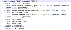 DTD file for the XML file used in examples